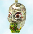Swamp Eater - Halloween Zombie & Frog, Fraga Christmas Ornaments, 1990s, Skull eating toad, Mint with Tag