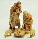 Nativity Set of 3  - Joseph & Mary with Baby Jesus, Anri- Kuolt , 1980, Vintage, Excellent