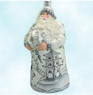 Exquisite Santa- Black, Breen Ornaments, 2009, B2911, chinoiserie, lantern, pagota, crystals, Christmas Patricia, Mint with Tag
