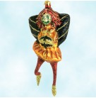 Freaky Goblin - Halloween, Fraga Christmas ornaments, 1990's, 5969, Girl monster, black wings, bats, red legs, Mint with Tag, Box