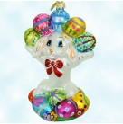An Even Dozen - Easter Bunny Rabbit, Radko Ornaments, 2000, 00-497-0, Holds eggs, Christmas, Mint with Tag