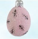 Miniature Egg - Ant-ic, Patricia Breen Ornaments, 2007, 2731, Select Retailers, Bugs, Pink background, Patricia, Easter, Mint with Tag