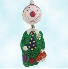 Hal the Clown - Halloween, Patricia Breen Ornaments, 2003, 2365, Historic Christmas Barn Exclusive, Kinetic, green, balloons, Mint