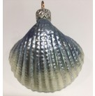 Walk on the Beach - Blue Clam Shell, Patricia Breen Christmas Ornaments, 1997, 9750, Sea Shell, Mint