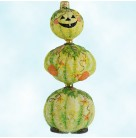 Kinetic Pumpkinman - Naturalistic, Patricia Breen Christmas Ornaments, 2004, 2234, Halloween, 3 Tier, Color Change, Mint with Tag