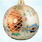 Southern Colonial Ball - Pink, Radko Christmas Ornaments, 1996, 92-142-2, Recoloration, Pineapples, floral, flowers, Mint with Tag