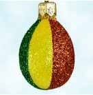 Miniature Egg - Rainbow Shines, Patricia Breen Christmas Ornament, 2004, 2451, Multiple colors in vertical bands, Mint with Tag