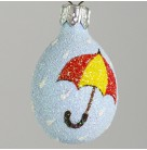 Miniature Egg - I'm Singing In The Rain, Patricia Breen Christmas Ornament, 2005, 2531, Easter, Spring, umbrella, Mint with Tag