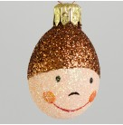Miniature Egg - Sweet Face, Patricia Breen Christmas Ornament, 2002, 2267, Easter, Spring, child's face, Mint with Tag