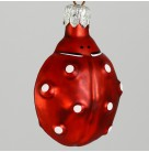 Ladybug - Red, Patricia Breen Christmas Ornaments, 1995, 9501, Easter, matte red insect, pearl dots, black feet, Excellent