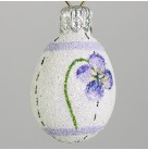 Miniature Egg - Pansy, Patricia Breen Christmas Ornament, 2003, 2366, Easter, Spring, flower, pearl, Mint