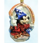 The Sorcerer's Apprentice - Mickey's 70 Happy Years Anniversary Set, Christopher Radko Christmas Ornaments, 1998, 98-DIS-48, Disney, Mint