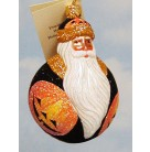 Miniature Santa Du Monde - Halloween, Patricia Breen Christmas Ornaments, 2004, B2427, Fully glittered, Pumpkins, Mint with Tag