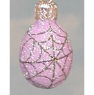 Miniature Egg - Purple Spider Web, Patricia Been Christmas Ornaments, 2004, 2451, Halloween, Glittered