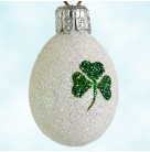 Miniature Egg - Clover, Patricia Breen Christmas Ornament, 2001, 2157, St Patrick's Day, Easter, Mint with Tag