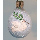 Miniature Egg -  Dove of Peace, Patricia Breen Christmas Ornaments, 2004, B2451, Restricted Select Retailer, Bird holds laurel, Easter, Mint