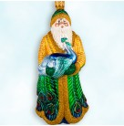 Peacock Santa Exclusive, Patricia Breen Christmas Ornaments, 1999, 9962, Neiman Marcus Catalog, Mint with Tag
