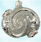 Once Again for James - Silver, Patricia Breen Christmas Ornaments, 2006, 2669, Bergdorf Goodman, Chameleons, Mint with Tag