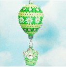 Montgolfier Bunny - Green & Yellow, 2005, B2534, NM Exclusive, 2 Part, Bejeweled, Neiman Marcus, Hot Air Balloon, Mint with Tag
