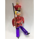 King's Guard, Christopher Radko Christmas Ornament, 1994, 94-253-0, Italian, Red hat & jacket, blue pants, Excellent
