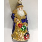 Santa Presents -  Cobalt Blue, Patricia Breen Christmas Ornaments, 2000, 2028, Gold net bag of toys, Mint with Tag