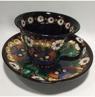 Demitasse Cup and Saucer Set, Thoune Pottery - Switzerland, , Early 1990s, [NO model number], Majolica, Very Fine