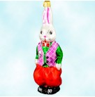 Billy Bunny, Radko Ornaments, 1997, 96-097-1, Easter rabbit, Red pants, green shirt, purple vest, Christmas, Mint with Tag