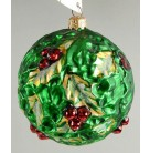 Holly Frost Ball, Christopher Radko Christmas Ornament, 1997, 97-135-0, Multidimensional relief, Mint
