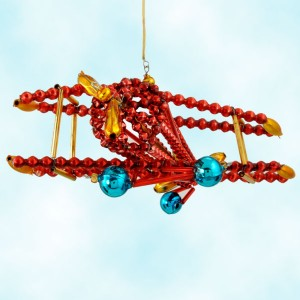 Radko Beade Kitty Hawk Airplane Ornament