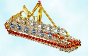 Radko Luxury Liner Beaded Ship Ornament