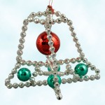 Radko Star Bell Beaded Ornament