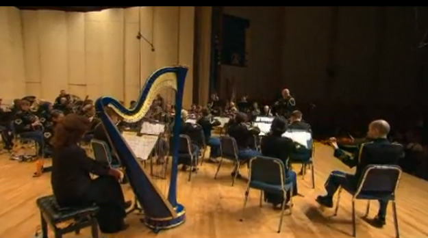 A full Army Orchestra performed Harold Van Heuvelen's Symphony