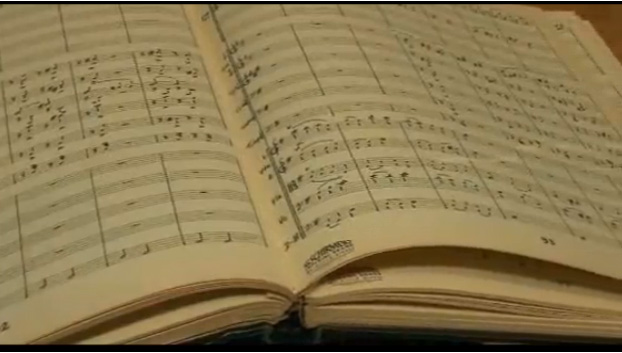 Harold Van Heuvelen's symphony music score was over 200 pages in length.