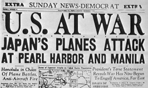 The Japanese bombing of Pearl Harbor prompted the U.S. declare war.