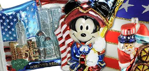 Breen, Radko, Poloaaise, Fraga, Vaillancourt Collectible Patriotic Ornaments
