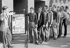 Young men eager to serve their country