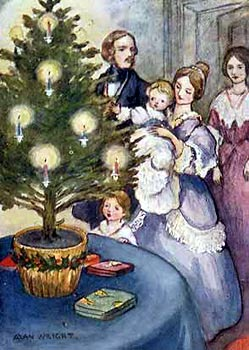 Victorian Families Celebrated Christmas with Candle Lit Potted Fir Trees