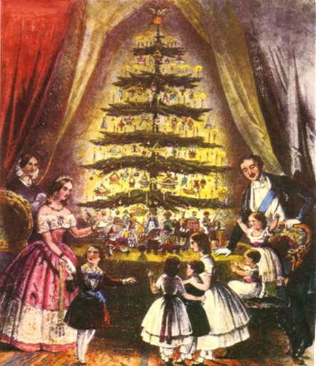 Queen Victoria, Albert, &amp; Children by The Christmas Tree