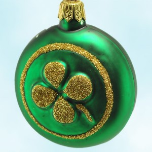 Breen Clover Medallion St Patricks Day Ornament