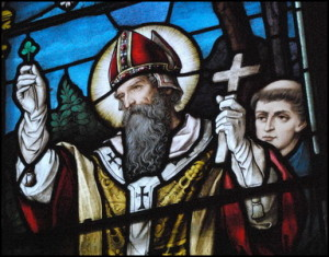 St Patrick represnted as Bishop of Amagh