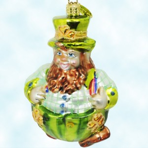 Radko Rollin O'Reilly Leprechaun Ornament