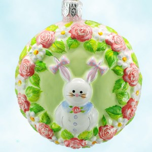 Patricia Breen Medallion Bunnny Girl Easter Ornament