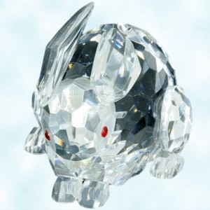 Godinger for Shannon crystal Irish crystal Easter rabbit figurine
