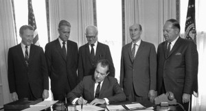 President Nixon Signing Father's Day Into Law