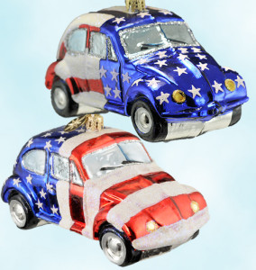 Radko's 2 Ltd 200 Stars & Stripes Volkswagon VW Ornaments