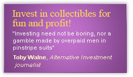 Invest in collectibles for fun and profit