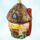 Shroom with a View, Radko Christmas Ornament, 1997, 97-191-0, Mushroom house, bunny rabbit, Easter, Spring, Mint With Tag