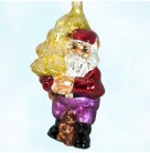 Elfin Pine - Santa Elf, Radko Ornaments, 1997, 96-238-1, Squirrel, red, purple, gold tree, Christmas, Mint