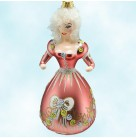 Minuet Woman, Radko Ornaments, 1996, 96-167-0, Italian Lady, red gown & roses, Christmas Christopher, Mint with Tag, Box