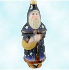 Blue Father Christmas - Celestial Wizard, Vaillancourt Christmas Ornaments, 1997, OR 9633, Santa, stars, Mint in Box